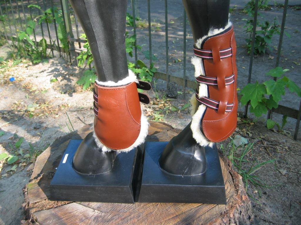 Ногавки кожаные на натуральном меху