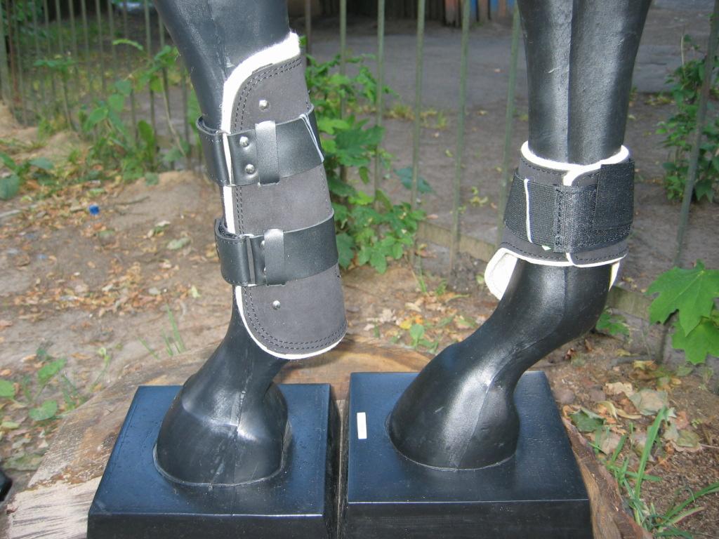 Ногавки передние кожано-нубуковые на войлочной подкладке