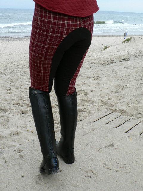Бриджи unisex из гладкой ткани с леями под замшу